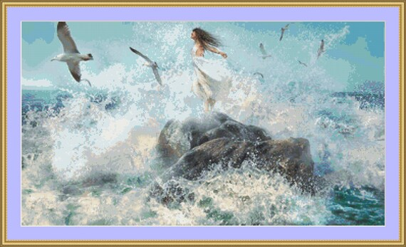 Beauty By The Sea Cross Stitch Patterns - Instant Digital Download