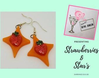 Strawberries & Star's Dangle Earrings