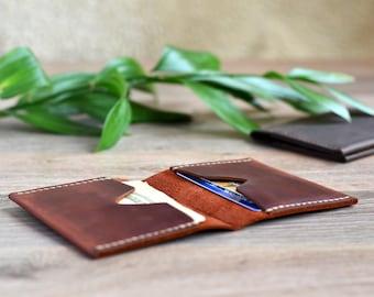 Leather Wallet Minimalist Leather Wallet Leather Billfold Mens Leather Wallet Leather Card Holder Brown Leather Wallet Slim Leather Wallet