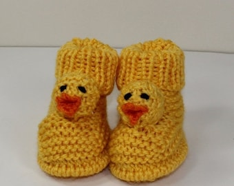 HALF PRICE SALE Instant Digital File pdf download knitting pattern - Toddler Chick Boots knitting pattern