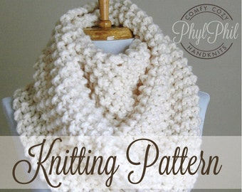 Knitting Scarf Patterns Infinity Scarf : Knit bandana scarf pattern triangle infinity