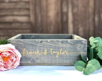 Wedding Card Box - Custom Rustic Wedding Decor - Wooden Card Box