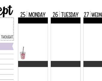 70 Iced Coffee/Tea Planner Stickers