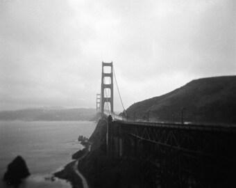 "Art Print ""Golden Gate Bridge"" Wall Art Analog Photography Landscape Photography Landscape Print San Francisco"
