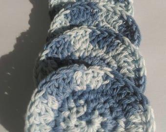 Crochet Face Scrubbies/ Makeup Remover Pads/ Reusable/ 100% Cotton/ Eco-friendly/ Textured Face Scrubbies/ Face Cloth/ Wash Cloth/ Set of 5