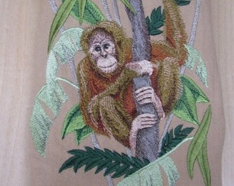 Orangutan Primate Towel - DISCOUNTED FOR FLAW