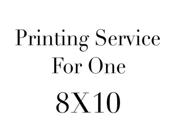 Printing Service for 8X10