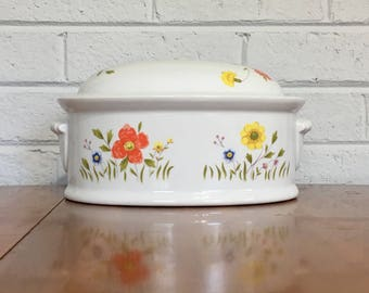 Country Flowers by Andrea Covered Casserole Dish