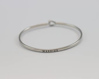 WARRIOR-Stackable Bangle Mantra Bracelet