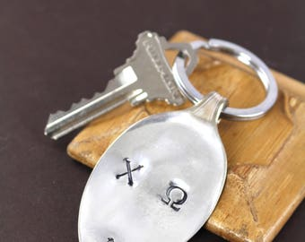 Chi Omega Vintage Spoon Key Ring , Jewelry with a Cause , Giving Back