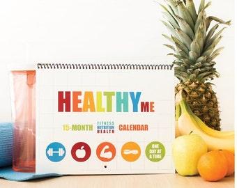 15-Month Fitness Calendar