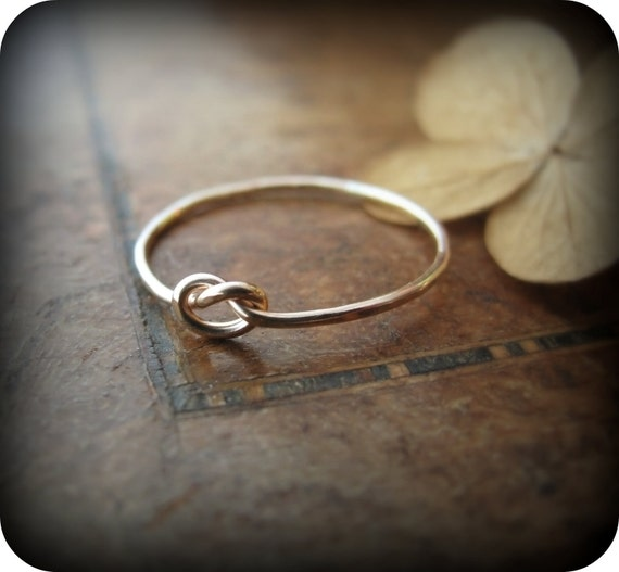 Knot ring gold filled ring
