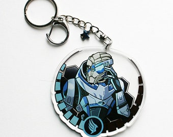 Garrus Vakarian 3 inch double-sided acrylic keychain [PREORDER ONLY]