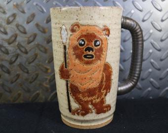 Star wars Ewok mug handmade #566