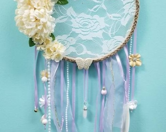 Flowers and Lace Dream Catcher
