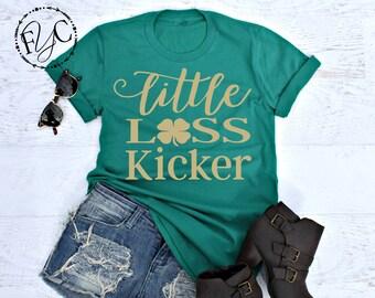 Little Lass Kicker, St Patricks Day Shirt Women, St Patricks Day Shirt, Women's St Patricks Day Shirt, St Paddys Day Shirt, Shamrock (SPD)