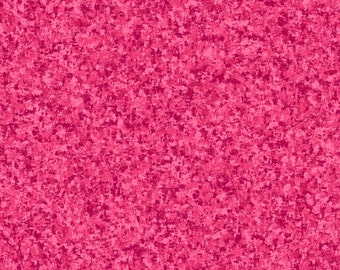 Fuchsia Pink Solid Textured Fabric - Quilting Treasures QT Basics Color Blend - 23528 PV - 1/2 yard