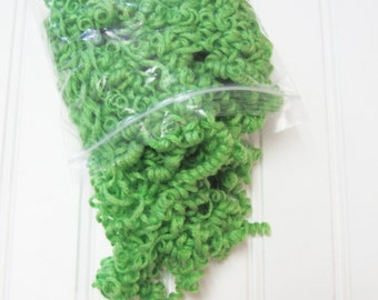 Green Curly Yarn Hair for Your Handmade Dolls and Crafts