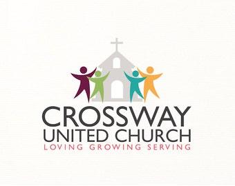 church logo christian religious religion people cross - Logo Design #C2