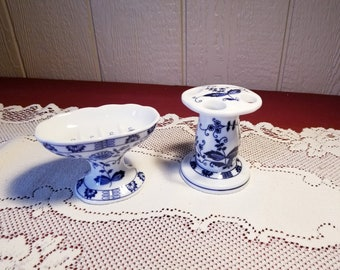 Vintage Soap Dish & Toothbrush Holder Set ViennaWoods Fine China Japan