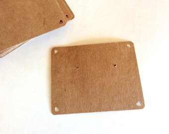 Post Earring cards, heart earring card, set of 30 2 x 2.5 inch, Kraft, White, Cream, printed earring cards