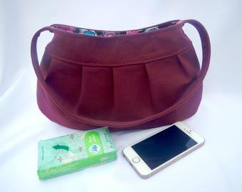 tote bag, pleated cotton handbag, tote, shoulder bag, handbag, mothers day gift
