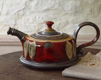 Unique Pottery teapot. Wheel Thrown Ceramic Teapot. Clay Tea Pot, Danko Pottery, Artistic Pottery, Handmade Clay Art, Earthenware Teapot
