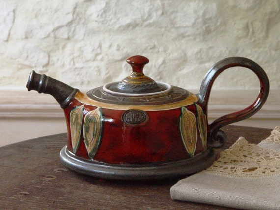 Beautiful Unique Pottery Teapot. Wheel Thrown Ceramic Teapot. Clay Tea