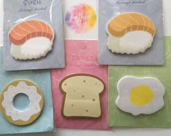 Cute Foodie Post its Notes Sticky Notes