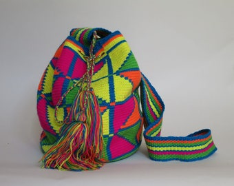 Striped Strap Wayuu Bag