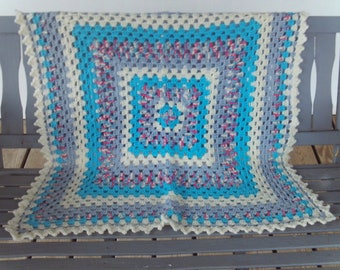 Afghan,Baby,Blanket,Crocheted,Girls,Boys,Infants,Toddlers,Seniors,Lapghan,Turquoise,Gray,Cream,Gift,Photo,
