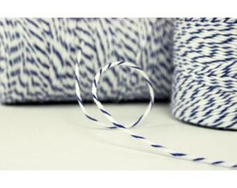 Blue Twine - Navy Blue Twine - Blue Wedding Decor - 240 yards Spool Baker String