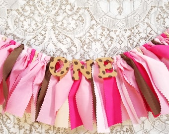 Pink Cookie Monster Birthday Decor - Girl's First Birthday Decor - Name Banner - Birthday Banner - Garland - Photoshoot Prop