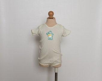 vintage 80s girl's onesie | Care Bears | baby romper