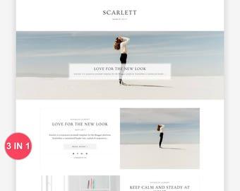 Blogger Template - Premade Blogger Template - Responsive Blogger - Blogger Theme - Minimal - Minimalist - Blogger Templates - Sale Scarlett