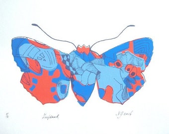 Original Screenprint***4 colored prin***BUTTERFLY