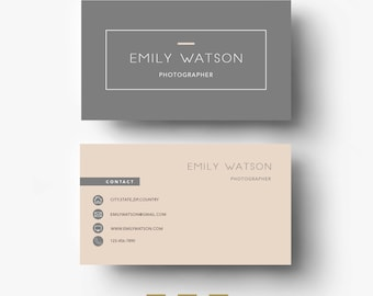 Business card template etsy business card template easy editable psd template fonts included instant digital download custom design cheaphphosting Choice Image