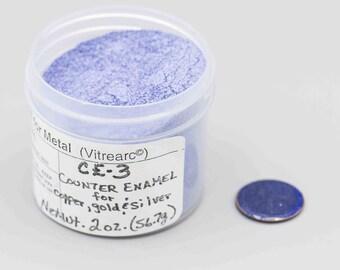 Thompson Enamel CE-3 Counter Enamel Vitrearc Jewelry Enamel for Gold Silver and Copper 2 oz Jar