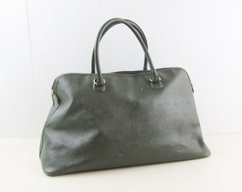 Estee lauder handbag, forest green weekend bag, weekender, overnight bag, handluggage duffel bag