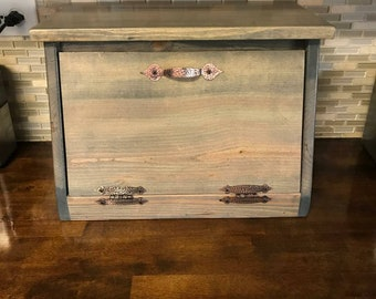 Wood Bread Box, Personalization Available, Bread Bin, Kitchen Storage, Organization, Country, Countertop, Rustic