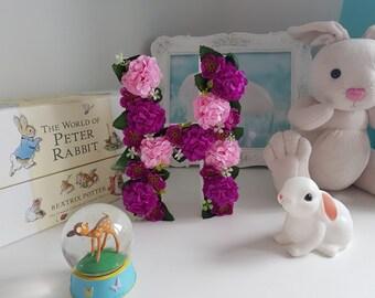 3D Flower Initial H 8 inch *Flowers* *Nursery Decor*