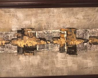 Vintage K.Hillman original oil on canvas painting