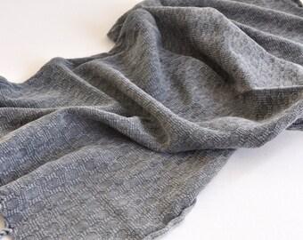 Hand Towel & head towel , Peshkir hand loomed vintage inspired in grey