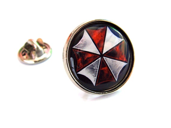 Resident evil umbrella corporation lapel pin badge security aloadofball Image collections