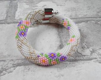 Bracelet, beaded bracelet, knitted bracelet