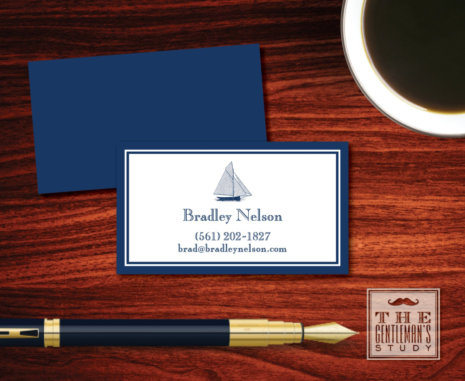 Sailboat Calling Cards Nautical Personal Business Cards