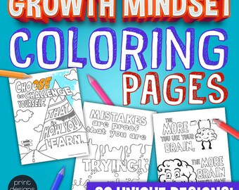 Growth Mindset Coloring Pages • Growth Mindset • Coloring Pages • Growth Mindset Materials • Teaching Materials