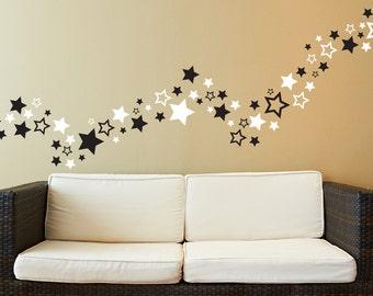 80 Star Wall Decals - Stars - Wall Decals - Decals - Star Nursery - Teens Room Decor