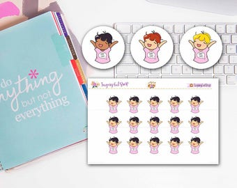 Lady D Day Off Planner Sticker Sheet