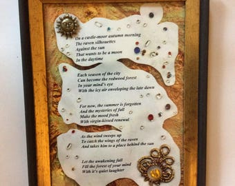 "Framed Collage Poetry- ""Mysteries of Fall"""